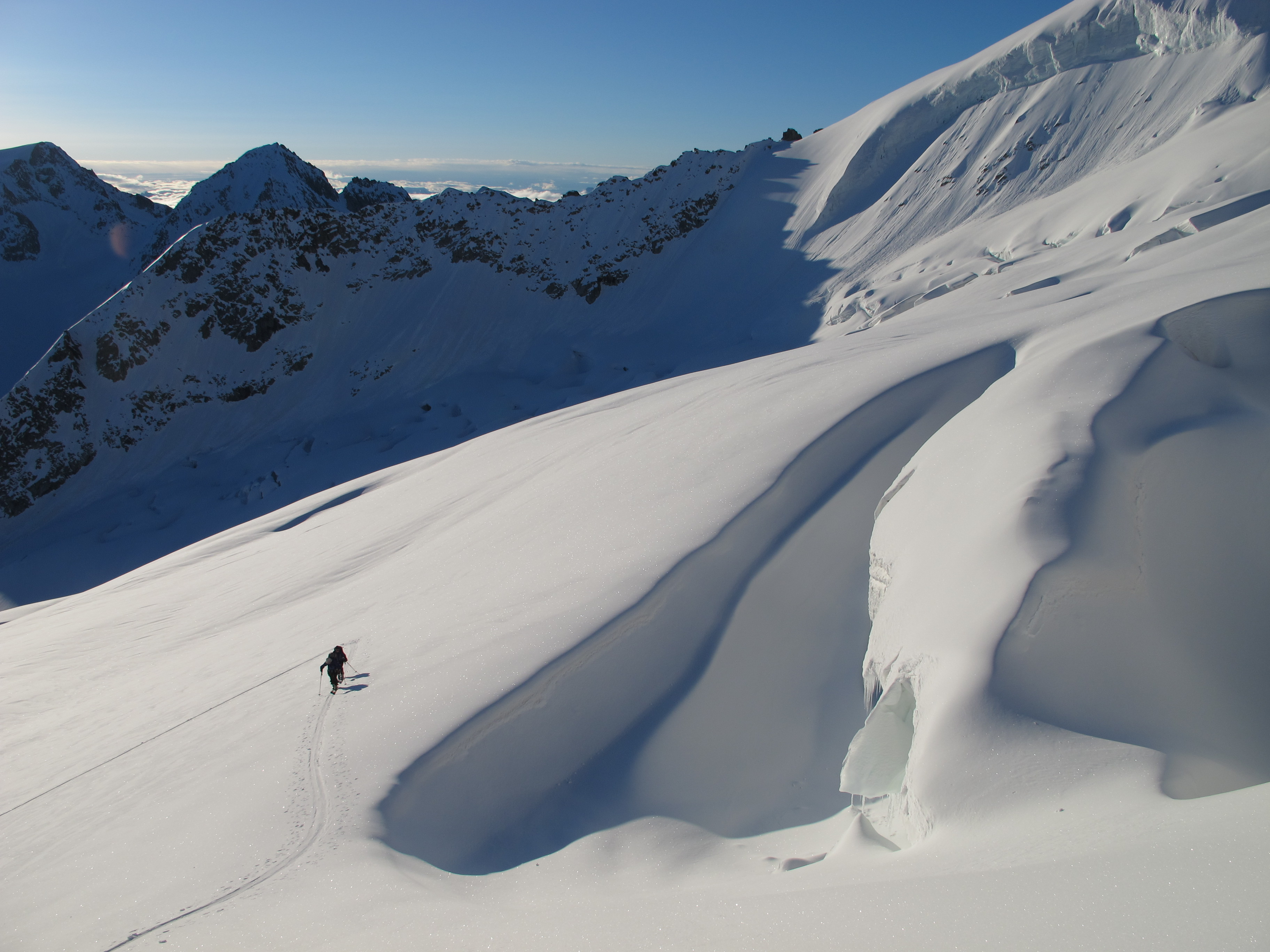 Ski mountaineering in the swiss alps, Photo by Mark Houston.