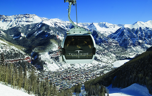 Best Views of Gondolas: Telluride's Gondola ride overlooks the town and mountains.
